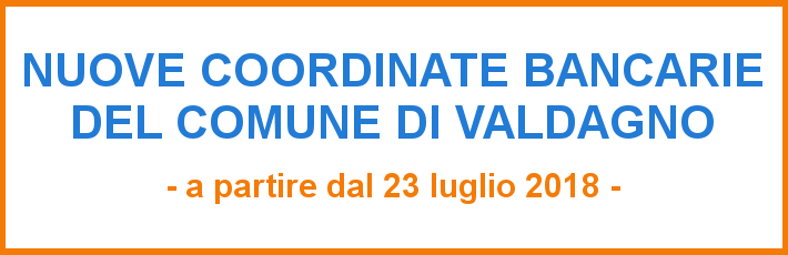 Nuove coordinate bancarie 23 07 18