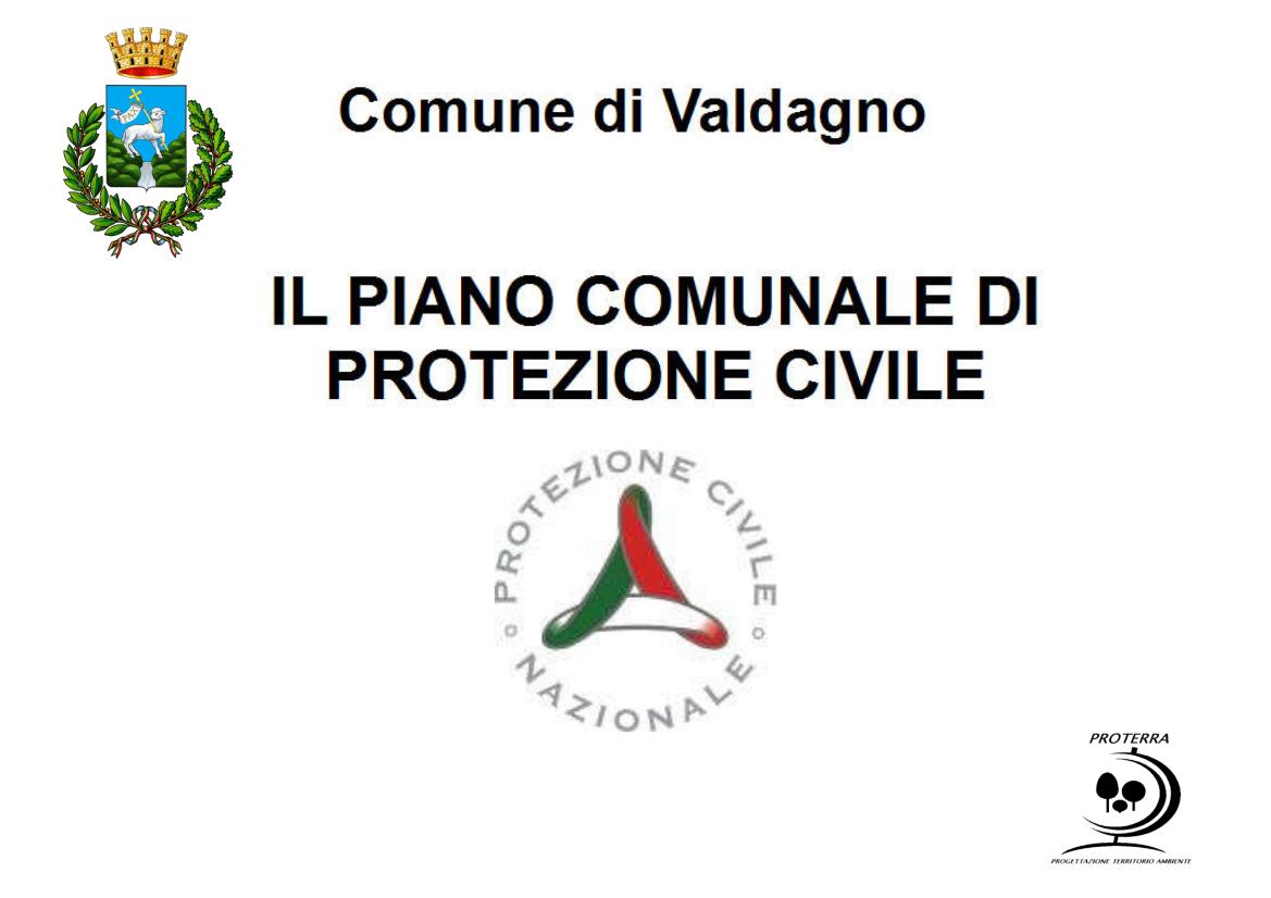Presentazione Piano Comunale di Protezione Civile — Comune ...