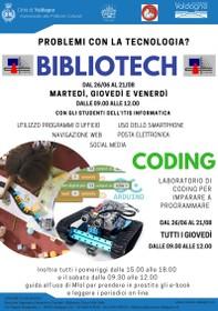 Bibliotech e Coding - Locandina