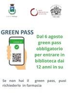 Dal 6 agosto green pass per accedere alla biblioteca dai 12 anni in su